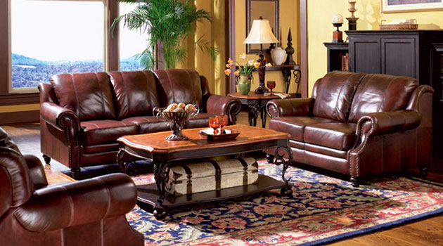 Princeton Leather Sofa and Loveseat